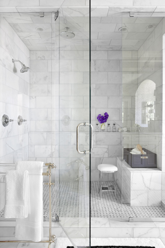 Bright white bathrooms meghan carter for All white bathroom designs
