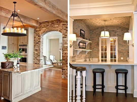Exposed Brick Walls: 29 Examples