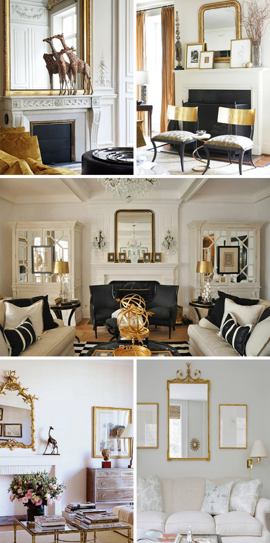 How to decorate with gold Gold and black living room ideas