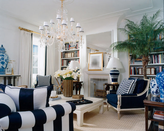 Indoor trees meghan carter - White and blue living room ...