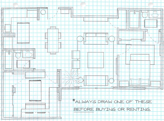 On The House Hunt? Draw A Floor Plan. - Meghan Carter